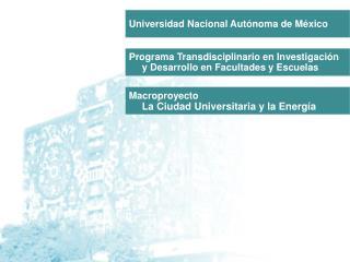 Programa Transdisciplinario en Investigaci�n y Desarrollo en Facultades y Escuelas