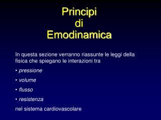 Principi di Emodinamica