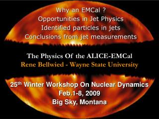 The Physics Of the ALICE-EMCal Rene Bellwied - Wayne State University