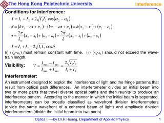 Optics II----by Dr.H.Huang, Department of Applied Physics