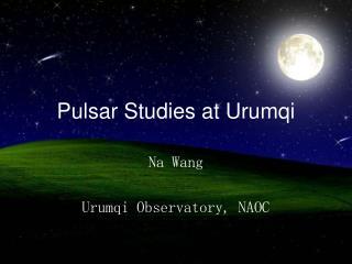 Pulsar Studies at Urumqi