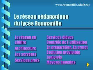Le réseau pédagogique  du lycée Roumanille
