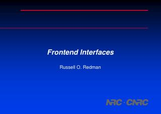 Frontend Interfaces