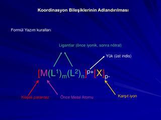 Koordinasyon Bileşiklerinin Adlandırılması