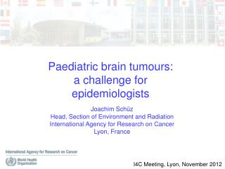 Paediatric brain tumours: a challenge for epidemiologists
