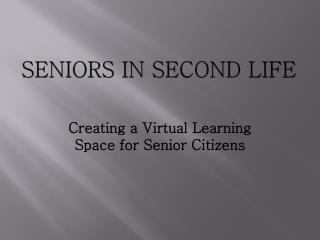 Seniors in second life