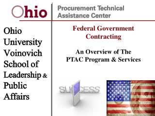 Ohio University  Voinovich School of  Leadership & Public  Affairs