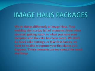 IMAGE HAUS PACKAGES