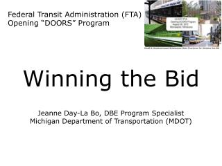 "Federal Transit Administration (FTA) Opening ""DOORS"" Program"