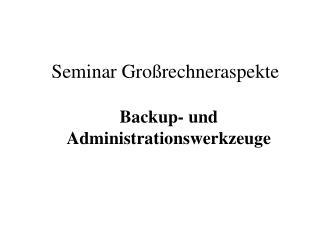 Seminar Gro�rechneraspekte