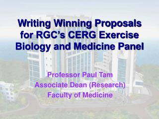 Writing Winning Proposals for RGC's CERG Exercise Biology and Medicine Panel