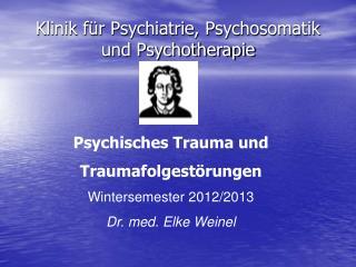 Klinik für Psychiatrie, Psychosomatik und Psychotherapie