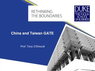 China and Taiwan GATE