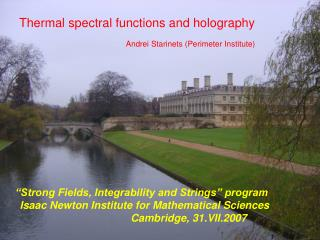 Thermal spectral functions and holography