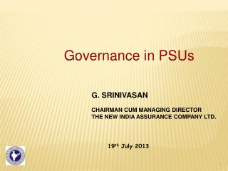 Governance in PSUs