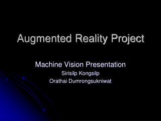 Augmented Reality Project