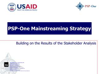 PSP-One Mainstreaming Strategy
