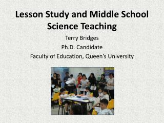 Lesson Study and Middle School Science Teaching