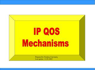 IP QOS Mechanisms