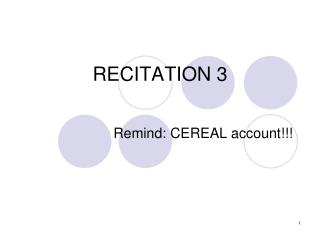RECITATION 3