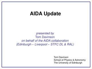 AIDA Update
