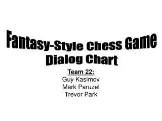 Fantasy-Style Chess Game Dialog Chart