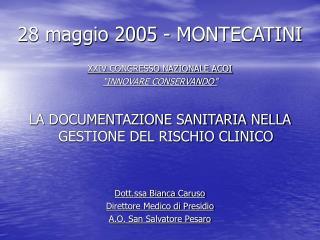 28 maggio 2005 - MONTECATINI
