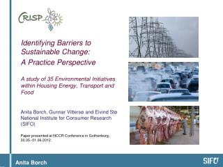 Identifying Barriers  to Sustainable  Change:
