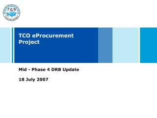 TCO eProcurement Project