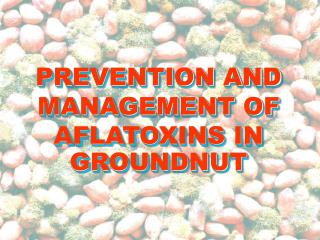 PREVENTION AND MANAGEMENT OF AFLATOXINS IN GROUNDNUT