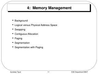 4:  Memory Management