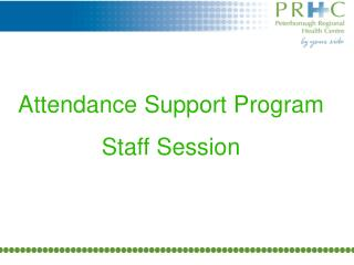 Attendance Support Program Staff Session