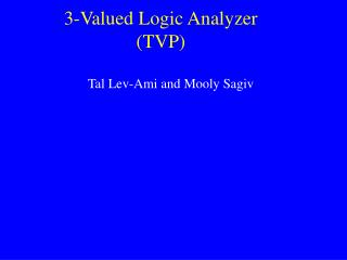 3-Valued Logic Analyzer (TVP)