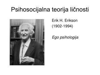 Psihosocijalna teorija ličnosti
