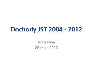 Dochody JST 2004 - 2012