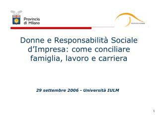 Donne e Responsabilità Sociale d'Impresa: come conciliare famiglia, lavoro e carriera