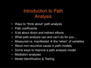 Introduction to Path Analysis