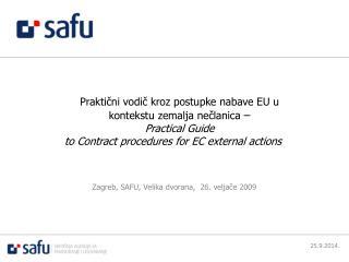 Praktični vodič kroz postupke nabave EU u kontekstu zemalja nečlanica – Practical Guide
