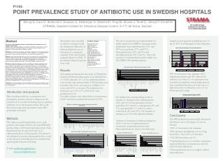 P1186 POINT PREVALENCE STUDY OF ANTIBIOTIC USE IN SWEDISH HOSPITALS