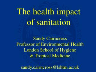The health impact  of sanitation