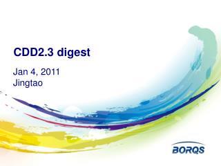 CDD2.3 digest