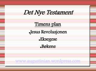 Det Nye Testament