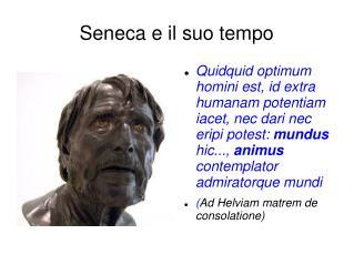 Seneca e il suo tempo