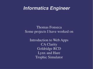 Informatics Engineer