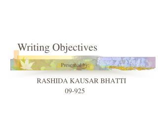 RASHIDA KAUSAR BHATTI                 09-925