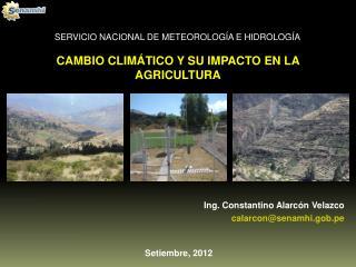 CAMBIO CLIMÁTICO Y SU IMPACTO EN LA AGRICULTURA