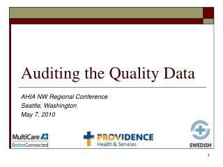 Auditing the Quality Data