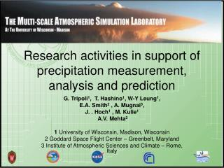 Research activities in support of precipitation measurement, analysis and prediction