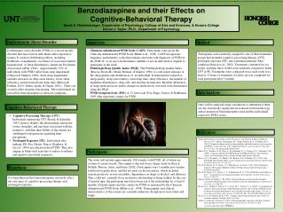 Benzodiazepines and their Effects on  Cognitive-Behavioral Therapy