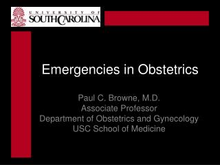 Emergencies in Obstetrics